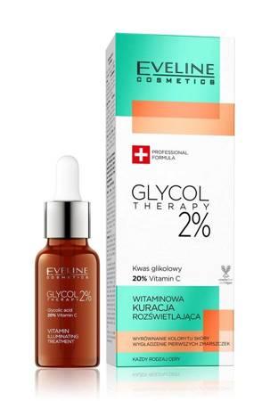 Eveline Glycol Therapy 2% Witaminowa Kuracja rozświetlająca 18ml