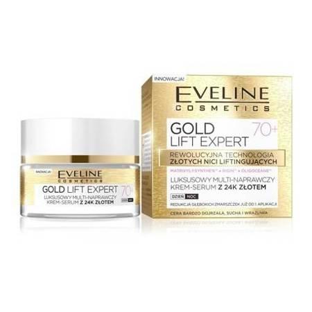 Eveline Gold Lift Expert 70+ Multi-naprawczy krem 24k złota dzień/noc 50ml